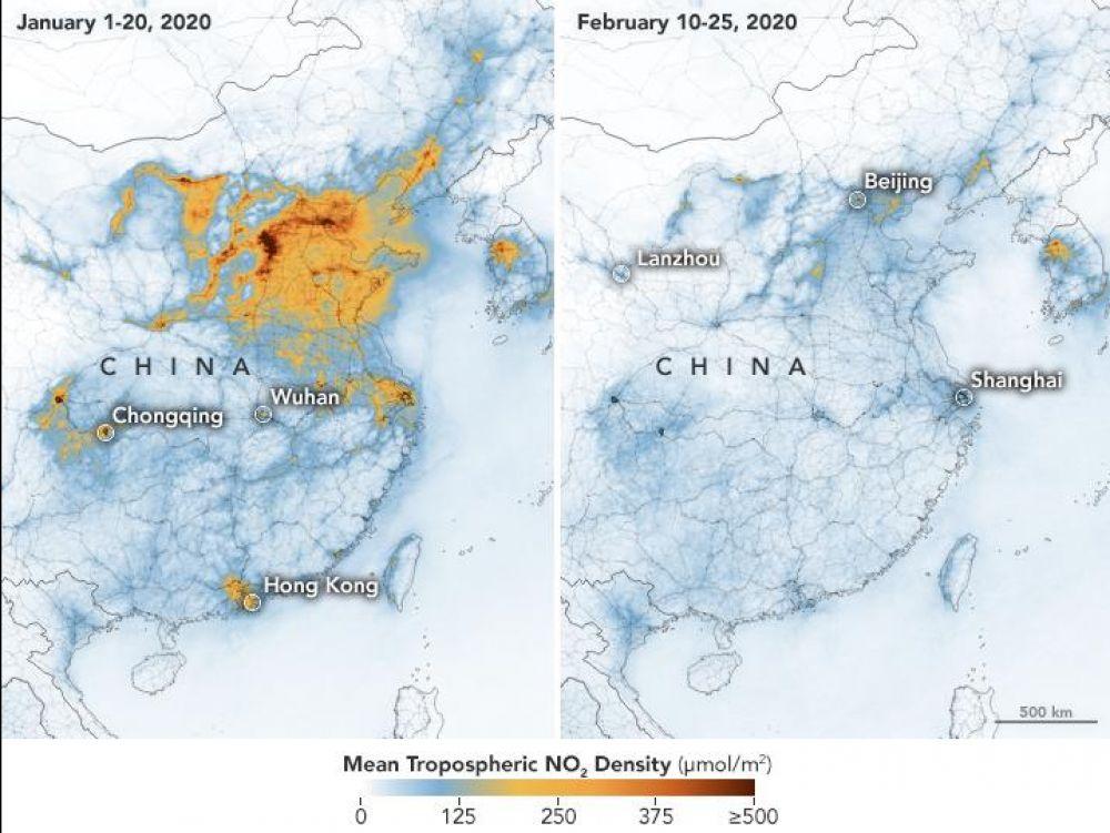 Le taux de pollution diminue en Chine selon la NASA.
